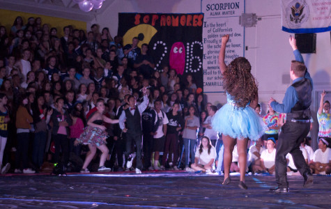 Jeffrey Fielding, Junior Prince, and Jaylee Brown, Junior Princess, celebrating at the 2013 homecoming rally.