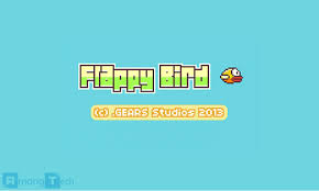 Credit: Gears Solution  The start screen of the Flappy Bird game.