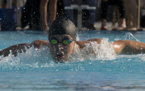 The boys varsity swim team dominated Buena High School at the first ever Cam High swim meet at home.