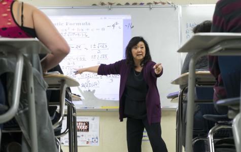 Doris Jung, mathematics teacher,at work in her classroom.