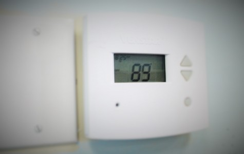 Temperatures in Mrs. Lori Pristera's room in C-wing reached 89 degrees by 12 pm Monday and Tuesday of this week.