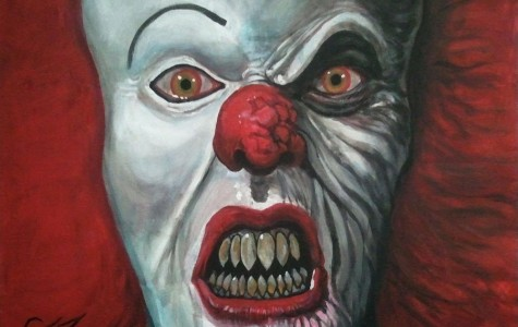 Tom Carlton's rendition of Pennywise, the main antagonist from Stephen King's IT.