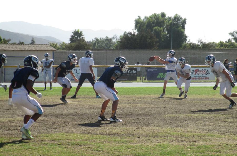 The Scorpions put in practice time on Tuesday afternoon at the Scorpion-dome. Cam High lost to Thousand Oaks 24-7 last Thursday night.