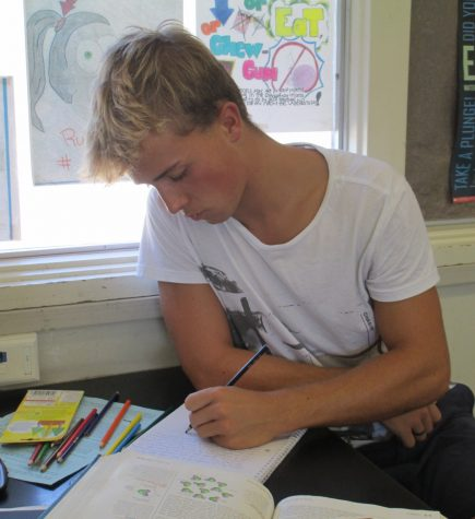 Nick Van Calck attends Cam High for the year away from his home in Belgium.