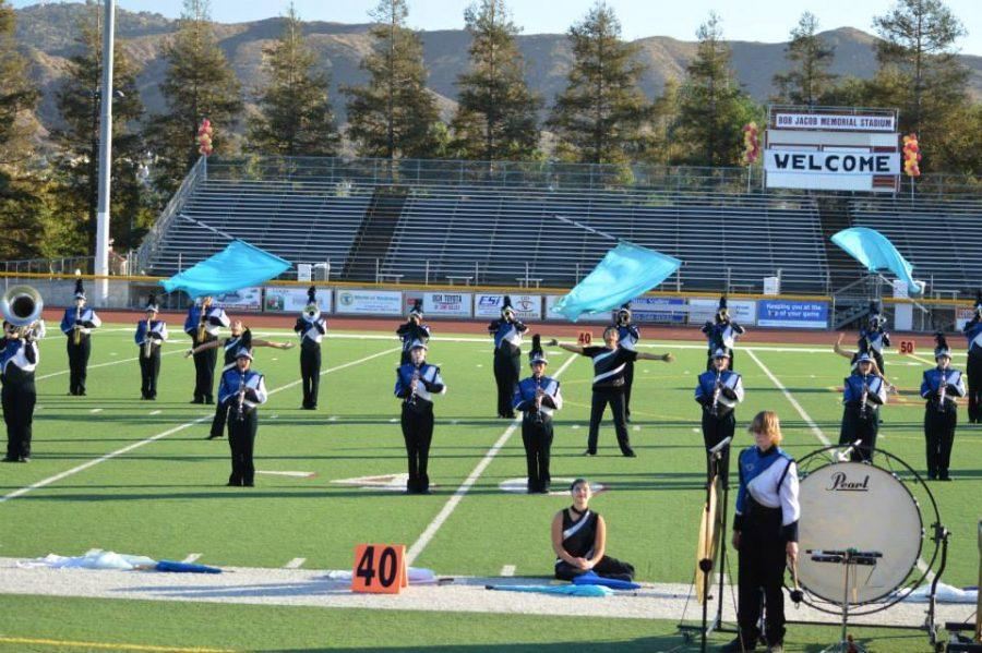 The Marching Band performed at the SCSBOA Oxnard Field Show Competition last Saturday and took third place overall.