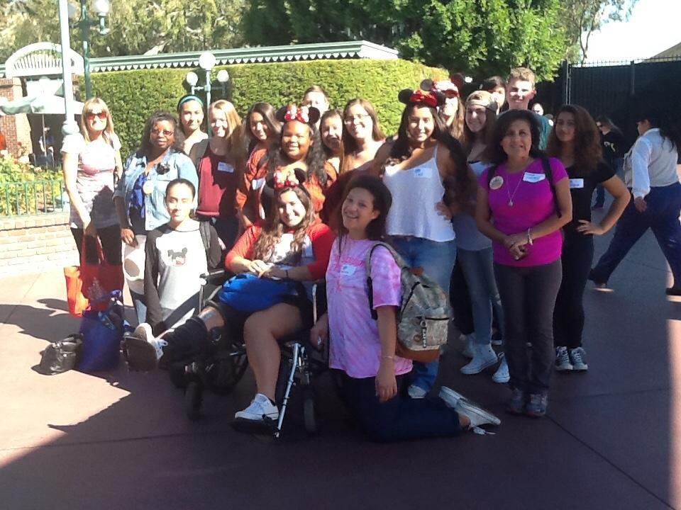 Members of Cam High's science club gather at Disneyland to do experiments. The club will travel to San Francisco and Monterey in the beginning of December.