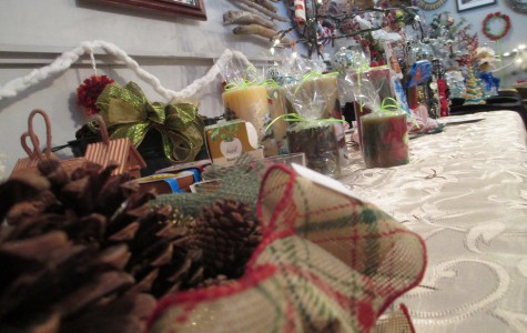 A number of holiday crafts are offered by student artists at Cam High's Gallery Club Art sale. The sale ends Dec. 18