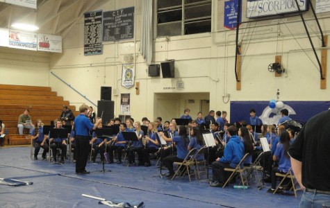 Following tradition, the Cam High concert and symphonic bands perform to open Cam High's Open House.