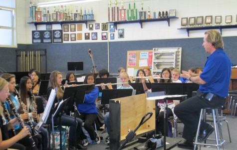 The ACHS Music Program practices for their annual Tootles and Noodle dinner, to be held this Friday at the Camarillo Community Center.