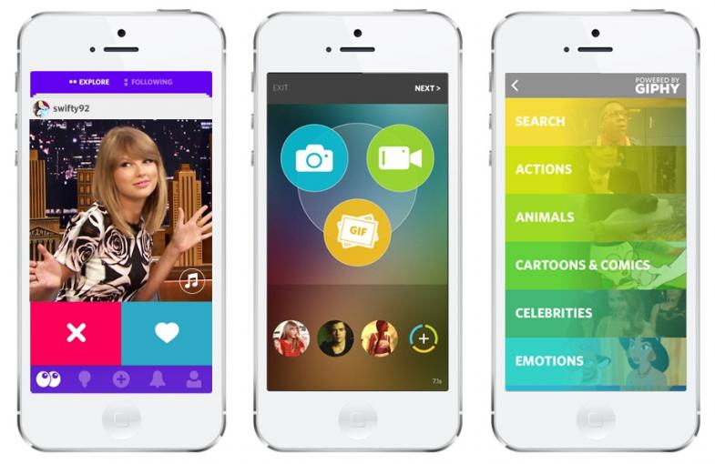 Trio is a new app that allows users to produce mash ups of various social media sites.