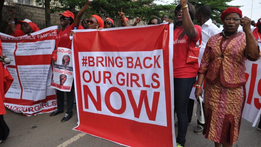 People call for the Nigerian government to rescue girls taken from a secondary school in Chibok region, during a protest earlier this month. Boko Haram, the group that took the girls, says they have been