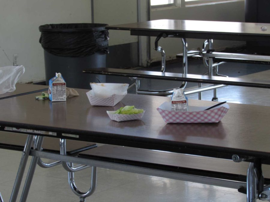 School lunch remains left in the cafeteria of a food provider that won't be returning.