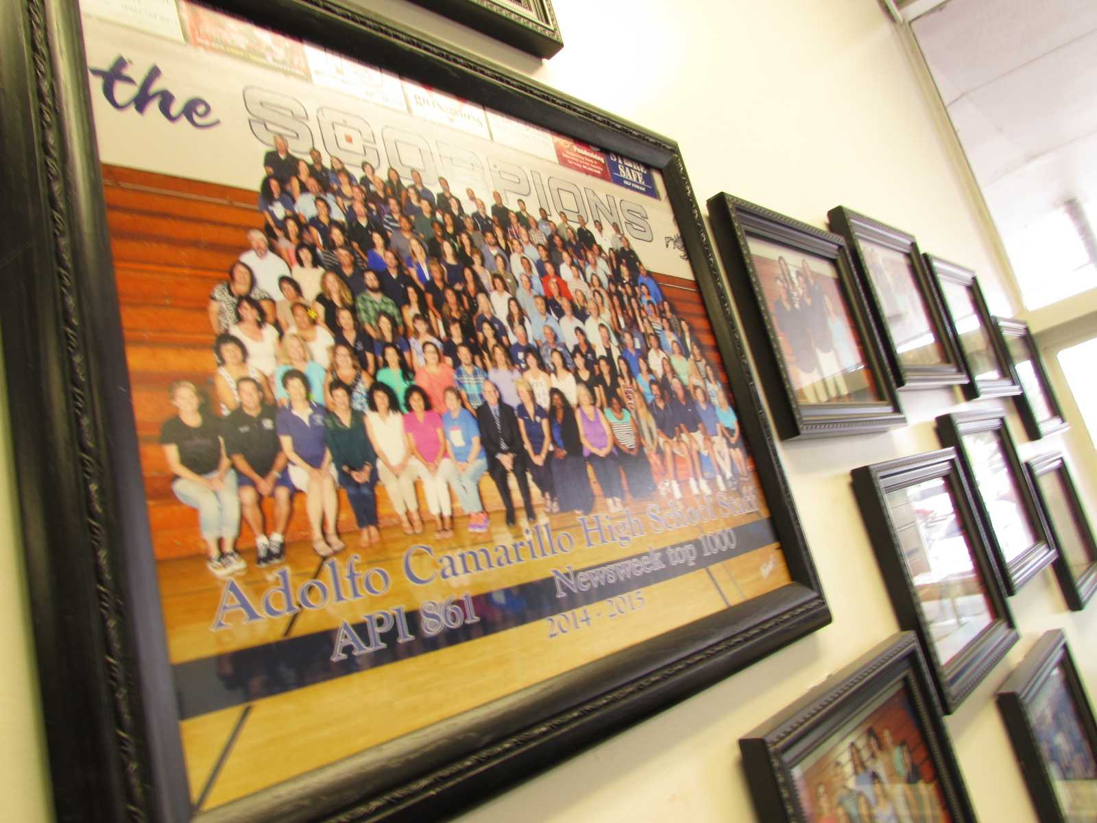 The Cam High group staff photo, featuring several teachers that will not be returning for the 2015-2016 school year.
