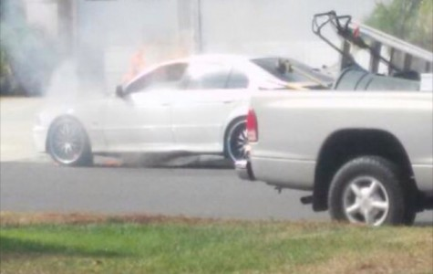 BMW catches fire in Cam High neighborhood