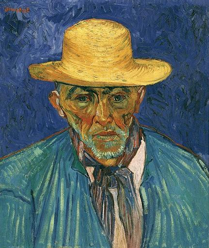 Portrait of a Peasant (Patience Escalier), August 1888, by Vincent Van Gogh