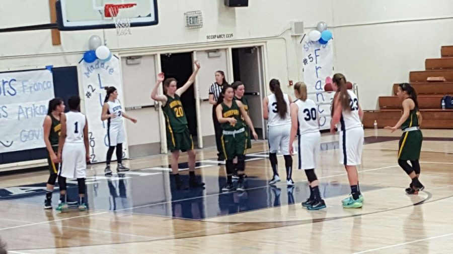 Girls' basketball honors seniors in last home league game