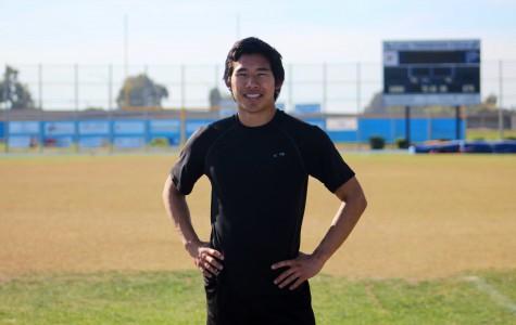 Ethen Chen, senior, during his track practice
