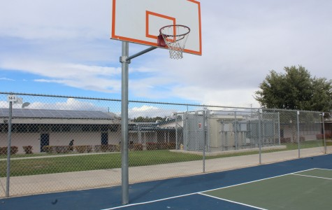 The basketball courts sit empty after boy's basketball's loss in the semi-finals.