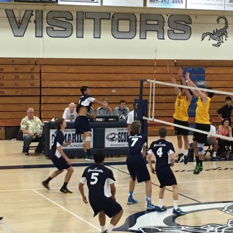 Boys volleyball currently tied for last in league
