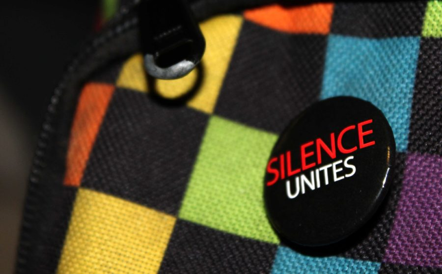 GSA will sell pins Monday through Thursday this week in the Quad to advocate participation in Day of Silence.