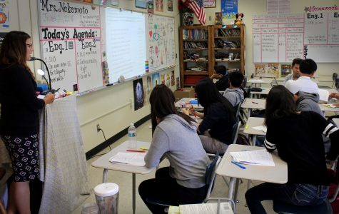 Mrs. Nakamoto teaches her 6th period English Language Development class.