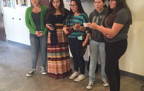 The acapella group, Crecendo, performs at CSU Channel Islands during an art exposition.