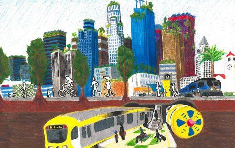 The first place winning art piece by Alexander Li, Cam High senior, for the Regional Tunnel Boring Machine art contest.