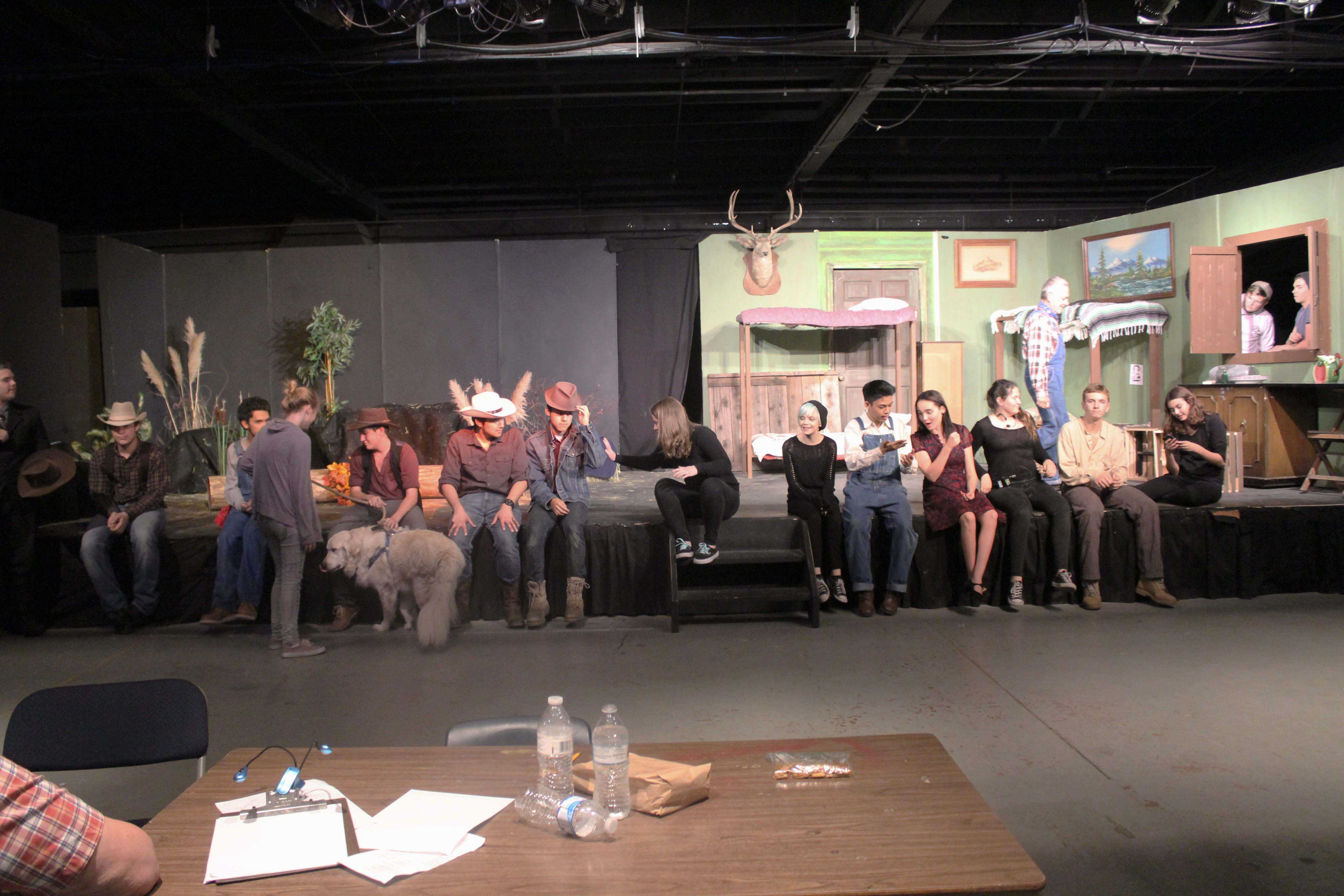 "The cast and crew from the Fall production of ""Of Mice and Men."""