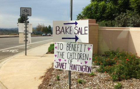 A bake sale at Padre Serra Parish to support the children of Janet Huntington.