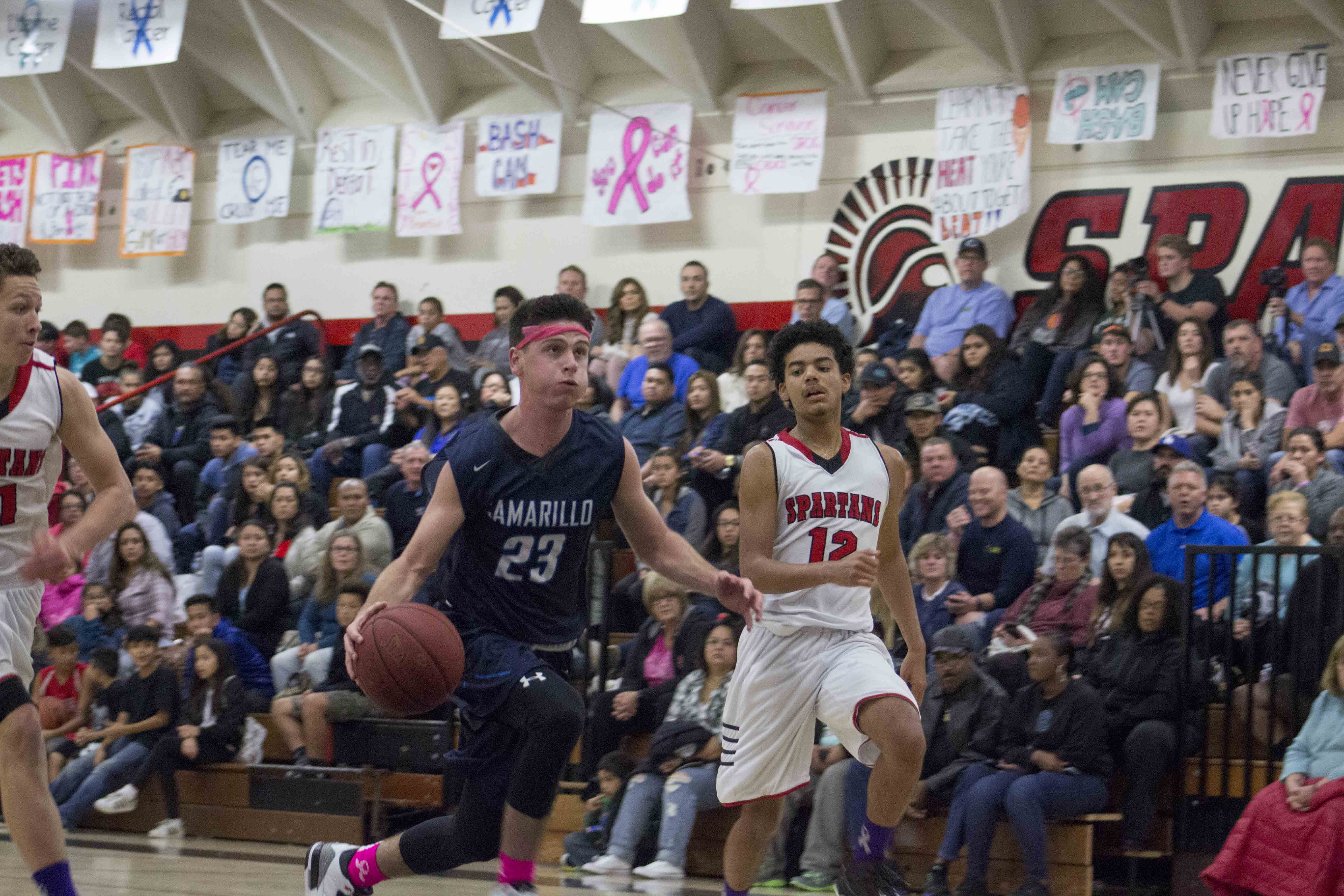 Senior Brandon Adair drives to the basket.
