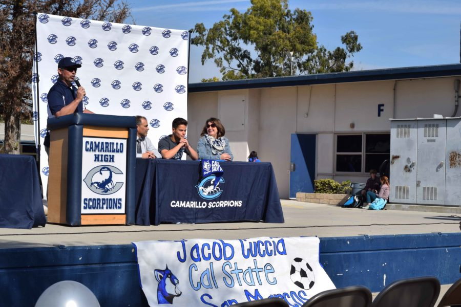 Senior Jacob Cuccia signs to play Division II soccer for Cal State San Marcos.