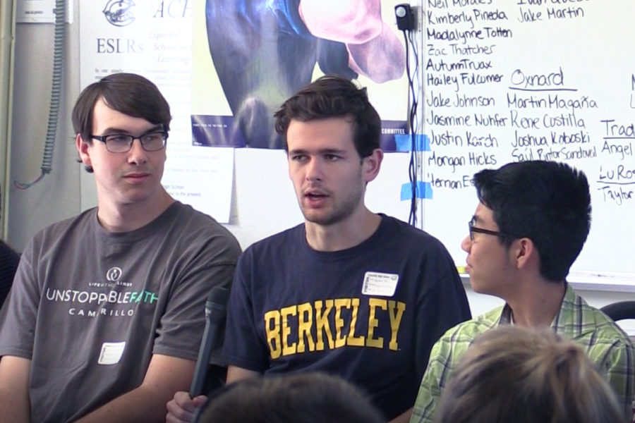 Xander Paul, sophomore at UC Berkeley, gives high school seniors advice about entering college.