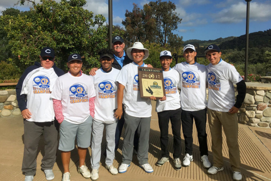 Cam+High%27s+boy%27s+golf+team+takes+the+CIF+Championship+in+Solvang.+