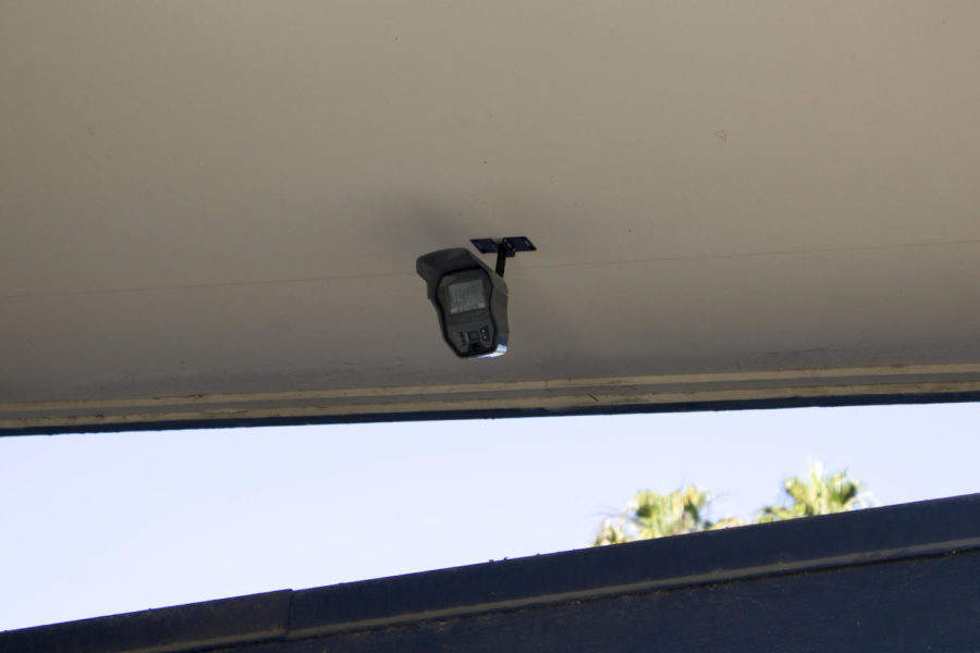 Surveillance cameras were installed around the campus.