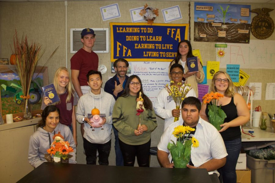 Mr John Avila's fourth period horticulture class.
