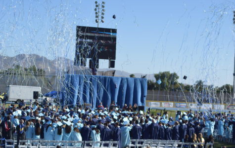 Times have changed; graduation at Cam High used to be multicolored. Not anymore.   Photo By: Cecilia Bach-Nguyen