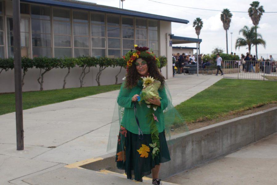 Mrs. Shannon Klemen dress as Mother Nature