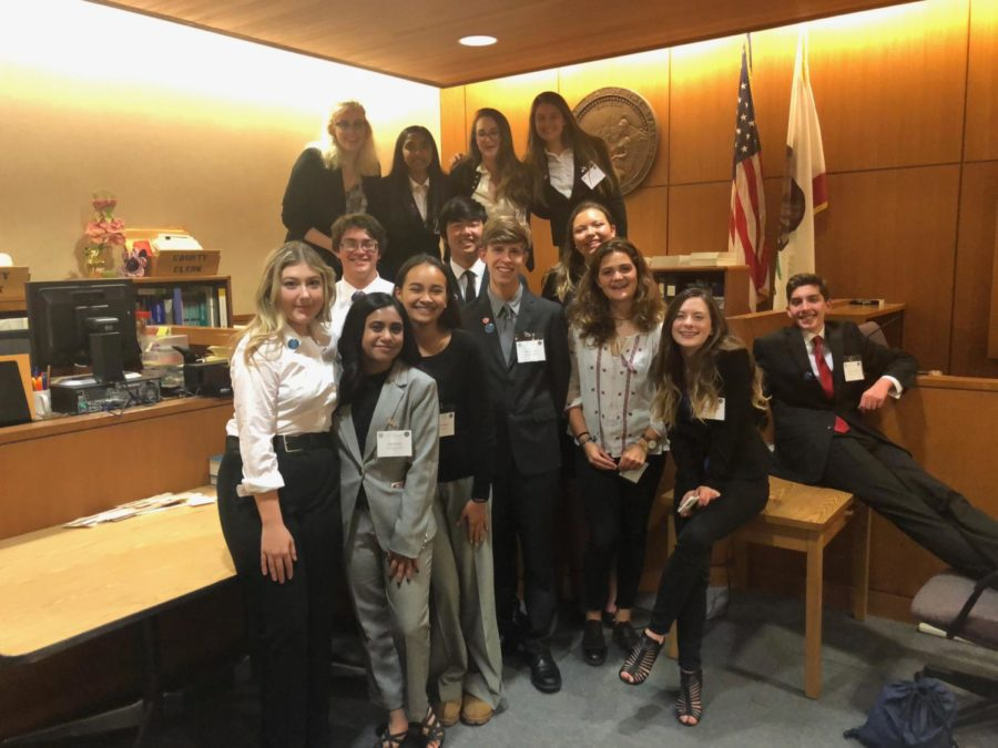 Photo by: Puja Malyala  Mock trial's silver team during competition week.