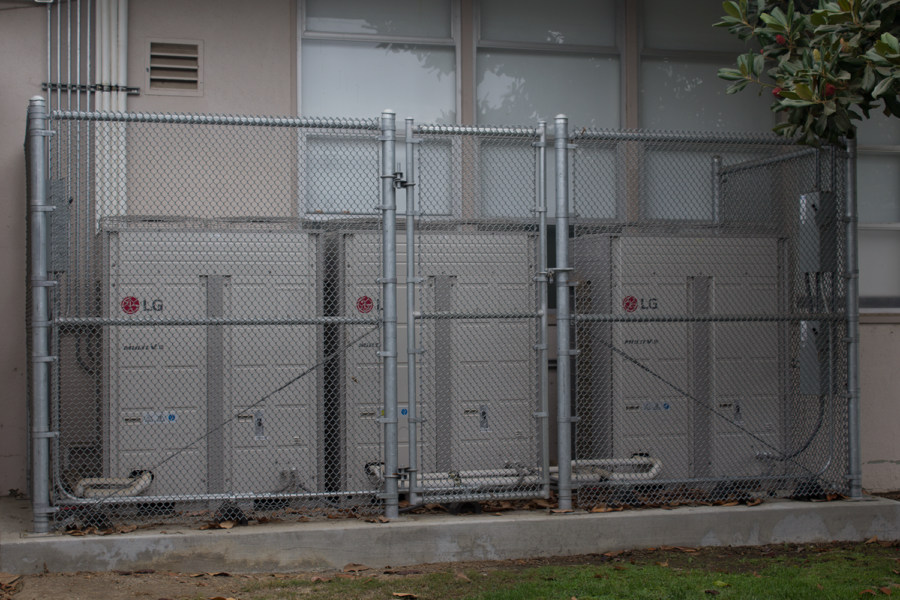 Cam High's AC units are located behind the N building.  Photo by: Ian Lattimer