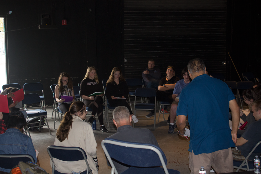 Drama practices reading for their new musical during sixth period.   Photo by: Ian Lattimer