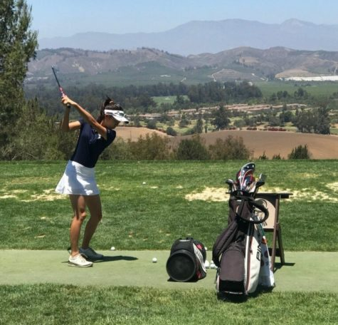 Tiffany Pak competing in the Southern California Professional Golf Association tournament.    Photo provided by: Michelle Pak