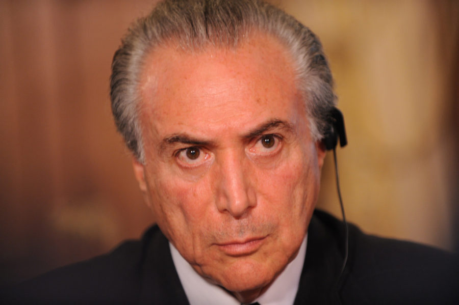 Michel Temer, Vice-President of Brazil in Downing Street to call on the world to tackle global hunger ahead of the next Olympics in 2016, 12 August 2012.