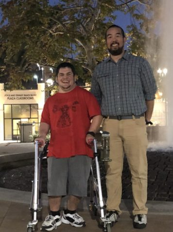 Stinger Staff Writer, Lucas Gnagy (left) and physical therapist Galen Okazaki (right).