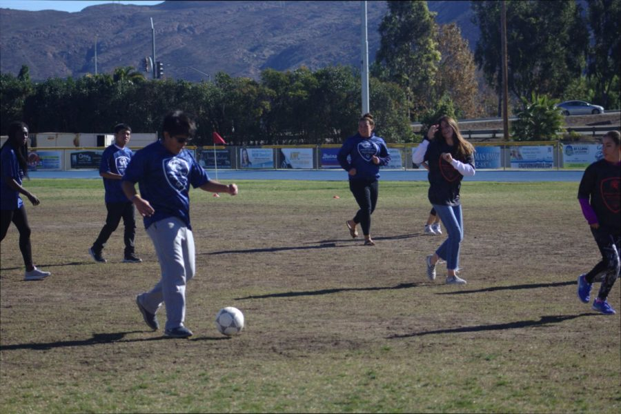 Special Ed and Regular Ed kids play in the Special Olympics soccer game on December 4, 2018.