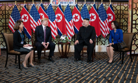 President Donald Trump meets with North Korean Leader Kim Jong Un to discuss plans for the future.