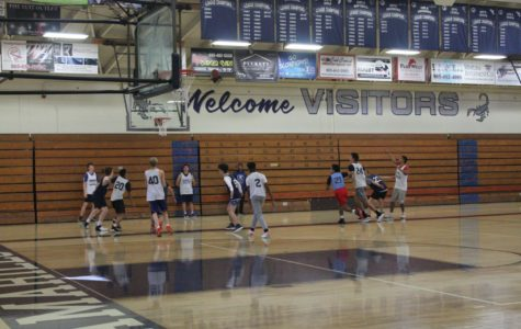 Cam High's boys varsity team practicing. The team's CIF playoff run ended in a loss to Rancho Cucamonga High School on Feb. 14.