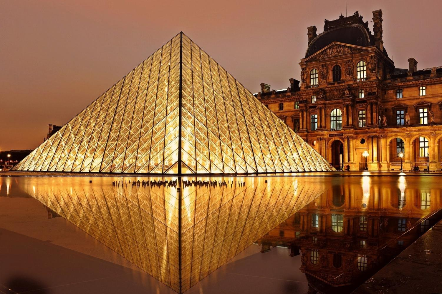 Clear Glass at The Lourve in Paris, France. The students will visit the Louvre on the EF trip.