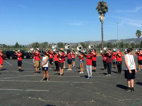 The Camarillo High band practicing on September 14, 2019.
