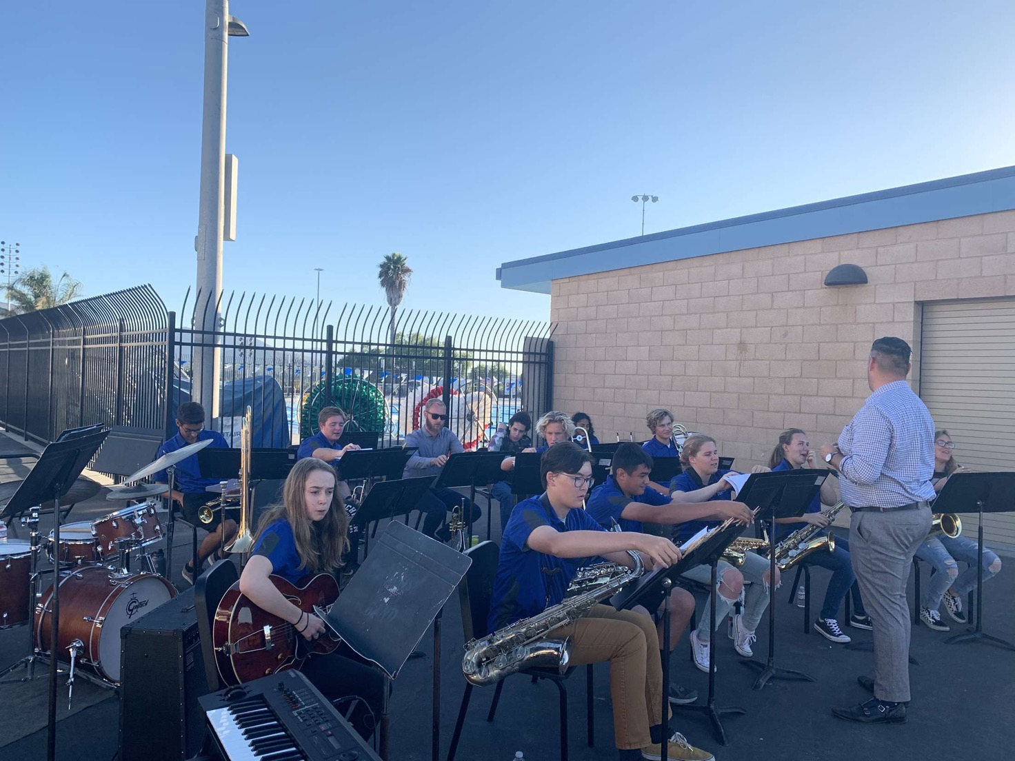 Band performs at Back To School Night on October 7, 2019.
