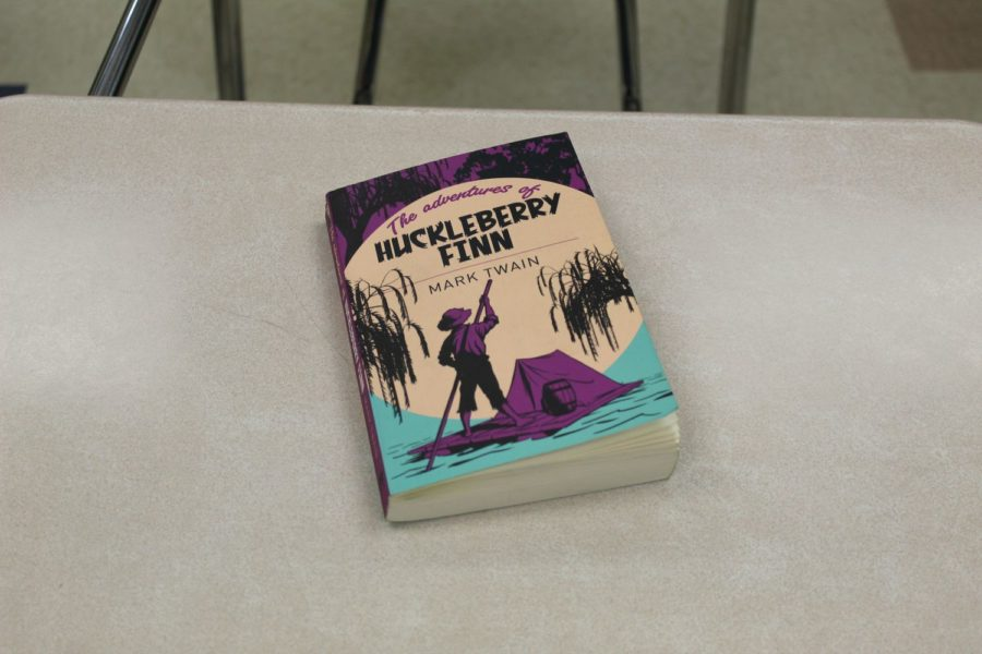 The+novel+Huckleberry+Finn+has+been+the+subject+of+much+controversy+due+to+its+legacy+in+schools+and+the+use+of+the+%22n-word%22+in+reading+the+book.